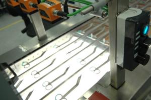 Zadní LED podsvícení kamerového dohledu - výrobní linka